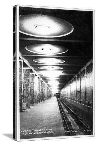 Krasnoselskaya Metro Station, Moscow, C.1935--Stretched Canvas Print