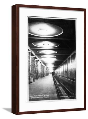 Krasnoselskaya Metro Station, Moscow, C.1935--Framed Art Print