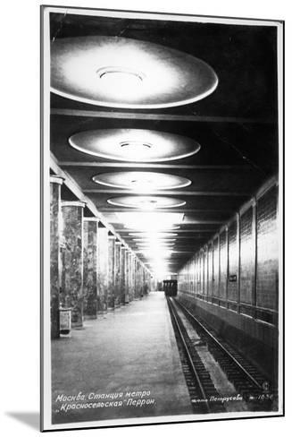 Krasnoselskaya Metro Station, Moscow, C.1935--Mounted Photographic Print