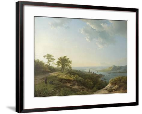 View over Heidelberg, 1837-Barend Cornelis Koekkoek-Framed Art Print