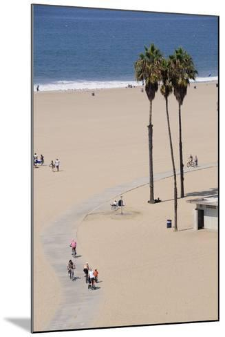 People Cycling the South Bay Cycle Route in the Town of Santa Monica Near Los Angeles--Mounted Photographic Print