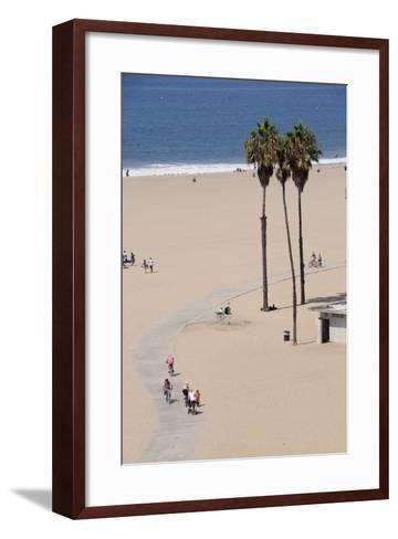 People Cycling the South Bay Cycle Route in the Town of Santa Monica Near Los Angeles--Framed Art Print