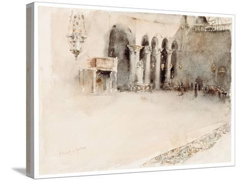 A Morning in St. Mark's-Robert Frederick Blum-Stretched Canvas Print