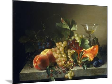 A Still Life with Fruit on a Stone Ledge, 1858-Bela Schaffer-Mounted Giclee Print