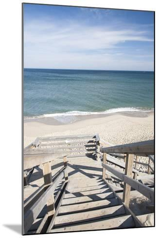Wooden Steps at Nauset Light Beach in Cape Cod, Boston, Usa--Mounted Photographic Print
