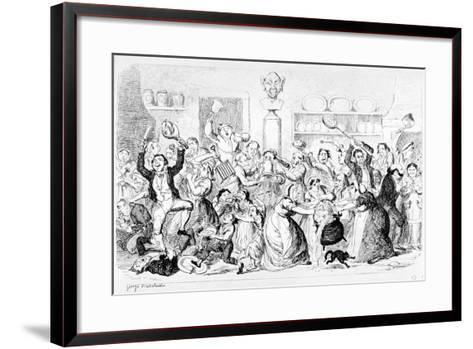 New Harmony - All Owin' - No Payin', 1845-George Cruikshank-Framed Art Print