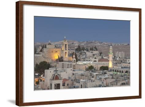 Panoramic Skyline of Bethlehem at Dusk, Palestine--Framed Art Print