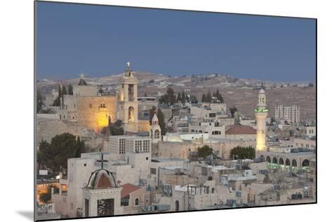 Panoramic Skyline of Bethlehem at Dusk, Palestine--Mounted Photographic Print
