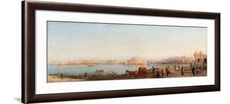 Valletta from Near Manoel Island-Giancinto Gianni-Framed Art Print