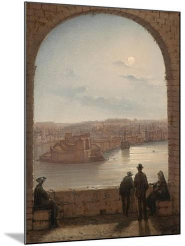 A Moonlit View of Fort St Angelo, Valletta, 1887-Giancinto Gianni-Mounted Giclee Print