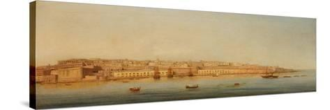 Grand Harbour, Valletta, 1869-Giancinto Gianni-Stretched Canvas Print