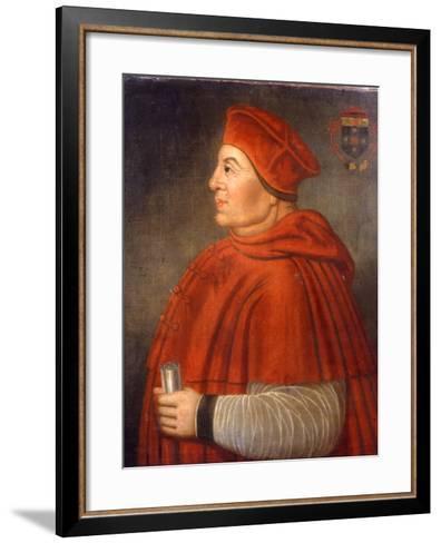 Portrait of Thomas Wolsey, Cardinal of York, C.1675--Framed Art Print