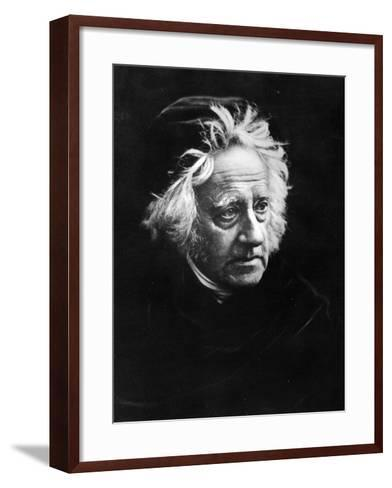 Sir John Frederick William Herschel, 1867-Julia Margaret Cameron-Framed Art Print