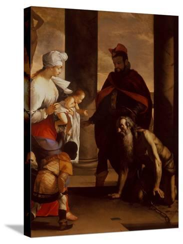 The Pardon of St. John Chrysostom, C.1640-Mattia Preti-Stretched Canvas Print