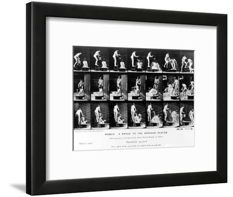 Woman. a Shock to the Nervous System, 1887, Illustration from 'The Human Figure in Motion' by…-Eadweard Muybridge-Framed Art Print
