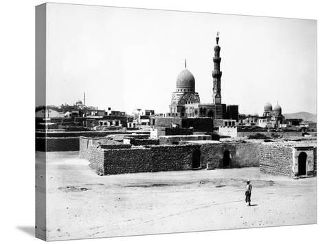 Mosque of Qaytbay, Cairo, C.1880-J. Pascal Sebah-Stretched Canvas Print