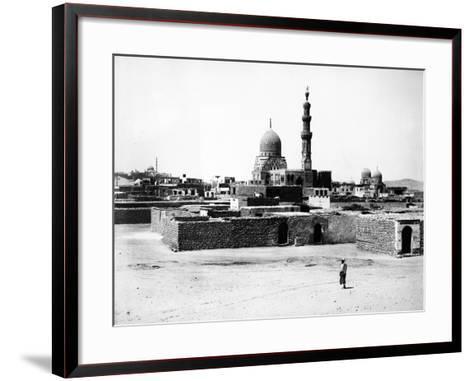 Mosque of Qaytbay, Cairo, C.1880-J. Pascal Sebah-Framed Art Print