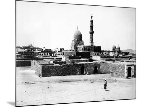 Mosque of Qaytbay, Cairo, C.1880-J. Pascal Sebah-Mounted Photographic Print
