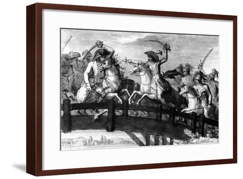 General Alexandre Dumas, the 'Horatius Cocles of the Tyrol'. Killing Single-Handedly Three…--Framed Art Print