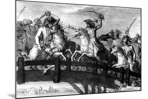 General Alexandre Dumas, the 'Horatius Cocles of the Tyrol'. Killing Single-Handedly Three…--Mounted Giclee Print