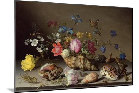 Flowers, Shells and Insects on a Stone Ledge-Balthasar van der Ast-Mounted Giclee Print