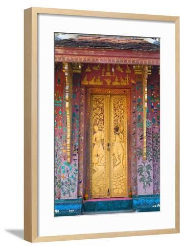 Elaborate Gilded Temple Door and Glass Mosaic on Exterior Wall--Framed Art Print