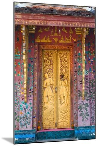 Elaborate Gilded Temple Door and Glass Mosaic on Exterior Wall--Mounted Photographic Print