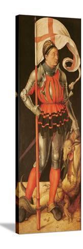 Stephan Paumgartner Portrayed as Saint George, Left Panel of the Paumgartner Altarpiece, C.1500-Albrecht D?rer-Stretched Canvas Print