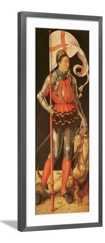 Stephan Paumgartner Portrayed as Saint George, Left Panel of the Paumgartner Altarpiece, C.1500-Albrecht D?rer-Framed Art Print