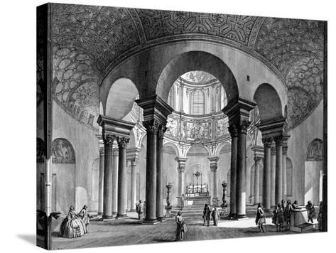The Interior of Santa Costanza, from the 'Views of Rome' Series, 1758-Giovanni Battista Piranesi-Stretched Canvas Print