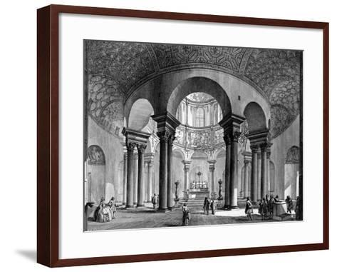 The Interior of Santa Costanza, from the 'Views of Rome' Series, 1758-Giovanni Battista Piranesi-Framed Art Print