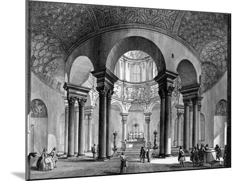 The Interior of Santa Costanza, from the 'Views of Rome' Series, 1758-Giovanni Battista Piranesi-Mounted Giclee Print