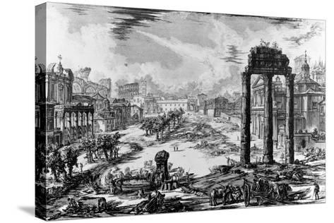 View of the Roman Forum, from the 'Views of Rome' Series, 1758-Giovanni Battista Piranesi-Stretched Canvas Print