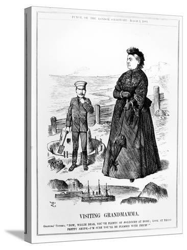 Visiting Grandmamma, Illustration from 'Punch', Published August 3 1889-John Tenniel-Stretched Canvas Print
