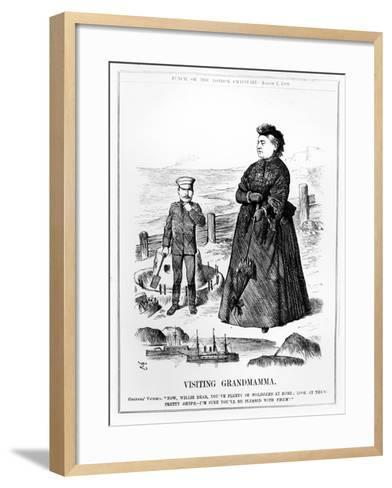 Visiting Grandmamma, Illustration from 'Punch', Published August 3 1889-John Tenniel-Framed Art Print