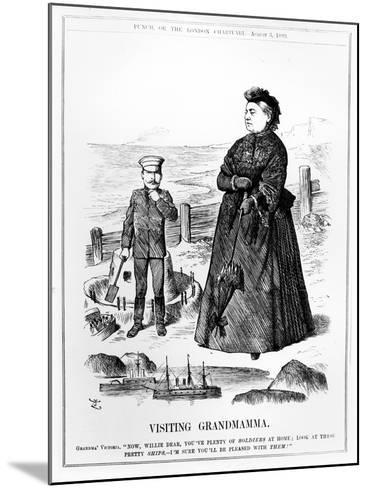 Visiting Grandmamma, Illustration from 'Punch', Published August 3 1889-John Tenniel-Mounted Giclee Print