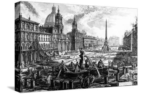 View of the Piazza Navona, from the 'Views of Rome' Series, C.1760-Giovanni Battista Piranesi-Stretched Canvas Print