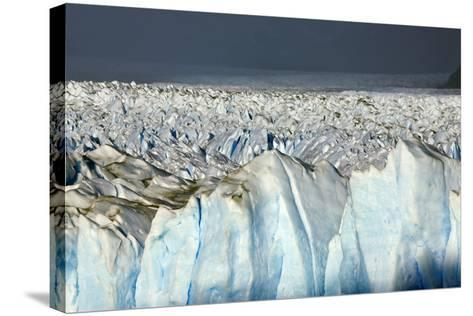 Detail of Glaciar Perito Moreno with Blue Ice Caverns--Stretched Canvas Print
