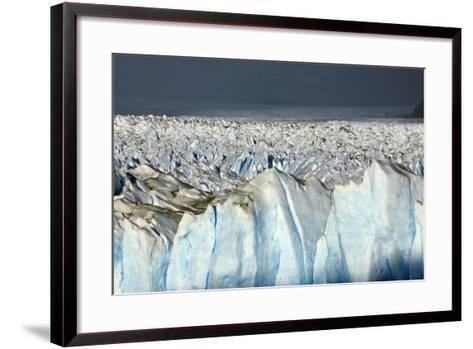 Detail of Glaciar Perito Moreno with Blue Ice Caverns--Framed Art Print