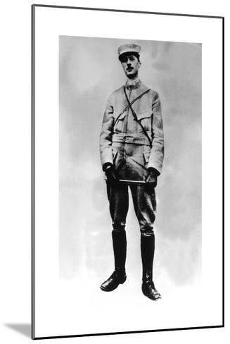 Gaulle, Charles De 1890-1970). French Statesman and Military. De Gaulle in 1917--Mounted Giclee Print