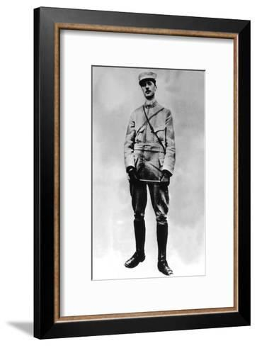 Gaulle, Charles De 1890-1970). French Statesman and Military. De Gaulle in 1917--Framed Art Print