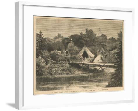 Education for Colonial Life at the Crystal Palace, Sydenham--Framed Art Print