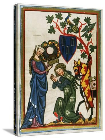 Der Schenk Von Limburg, Ministerial Swabian (Mid 13th Century) Says Goodbye to His Lady before…--Stretched Canvas Print