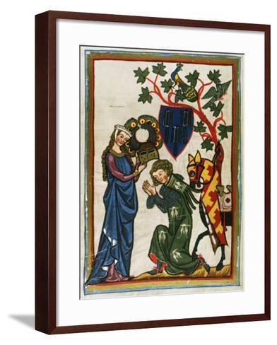 Der Schenk Von Limburg, Ministerial Swabian (Mid 13th Century) Says Goodbye to His Lady before…--Framed Art Print