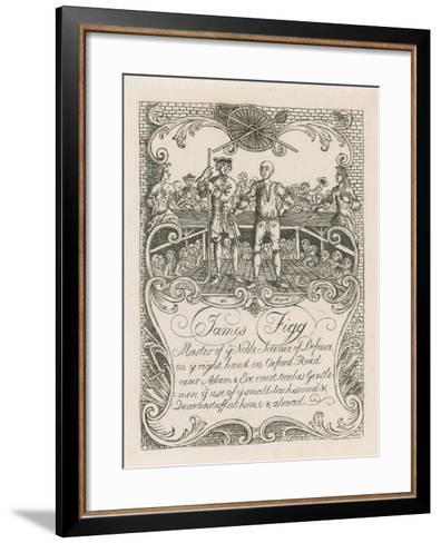 James Figg's Trade Card Designed by Hogarth-William Hogarth-Framed Art Print