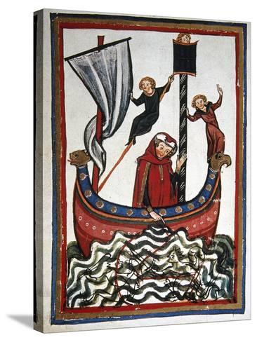 Friedrich Von Hausser Takes Journey to the Third Crusade in Which He Will Die (M.1190). Codex…--Stretched Canvas Print
