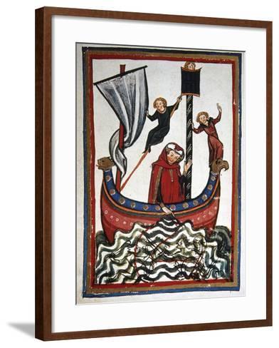 Friedrich Von Hausser Takes Journey to the Third Crusade in Which He Will Die (M.1190). Codex…--Framed Art Print