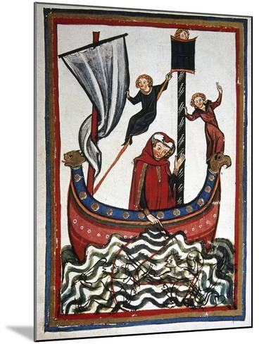 Friedrich Von Hausser Takes Journey to the Third Crusade in Which He Will Die (M.1190). Codex…--Mounted Giclee Print