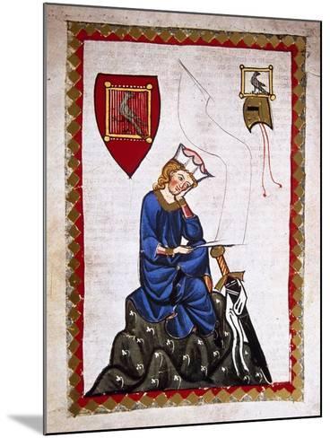 Walther Von Der Vogelweide (1170-1230). Codex Manesse (Ca.1300)--Mounted Giclee Print