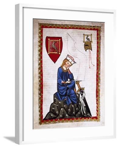 Walther Von Der Vogelweide (1170-1230). Codex Manesse (Ca.1300)--Framed Art Print